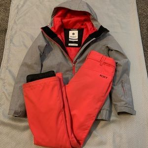 Roxy winter jacket and snow pants.